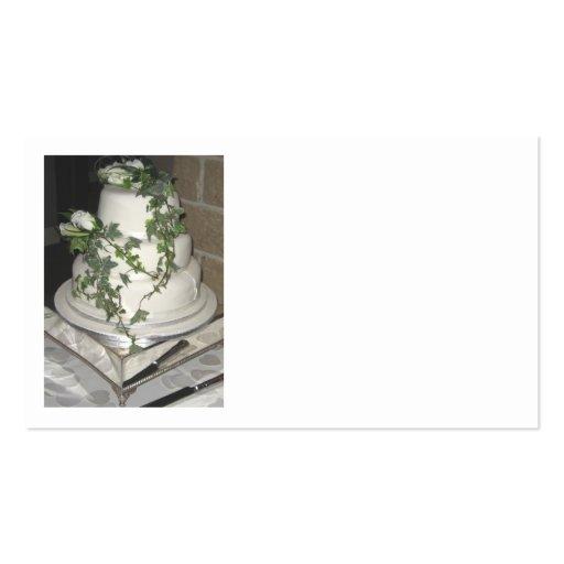 Pastel de bodas tarjetas de visita