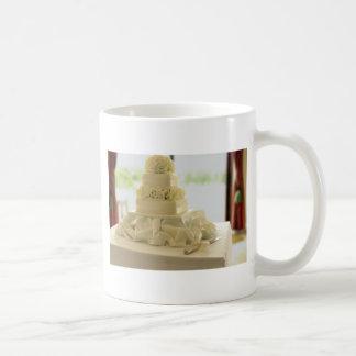 Pastel de bodas tazas de café