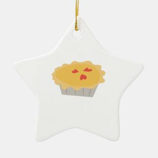 Pastel de calabaza adorno navideño de cerámica en forma de estrella