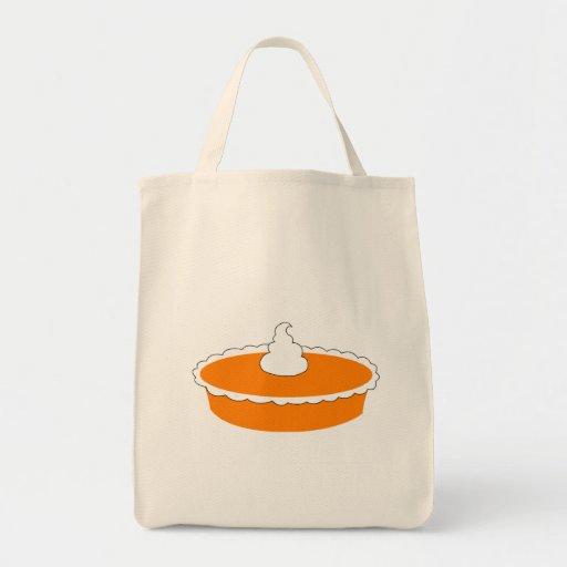 Pastel de calabaza bolsa tela para la compra
