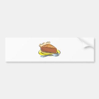 pastel de calabaza pegatina de parachoque