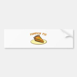 Pastel de calabaza etiqueta de parachoque