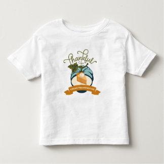 Pastel de calabaza de la acción de gracias del playera de bebé