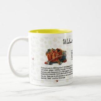 Pastel de calabaza de la nuez taza de café
