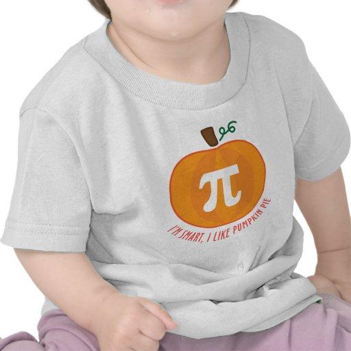 Pastel de calabaza elegante camisetas