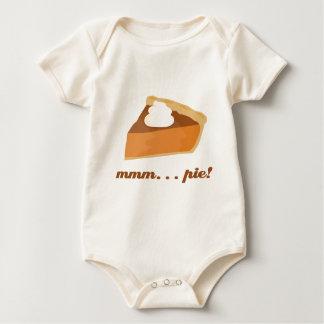 ¡Pastel de calabaza -… empanada mmm! Body Para Bebé