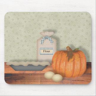 Pastel de calabaza Mousepad de la hornada Tapetes De Raton