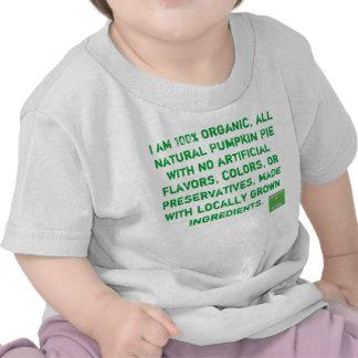 Pastel de calabaza orgánico camisetas