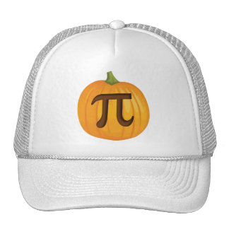 Pastel de calabaza pi de Halloween Gorra