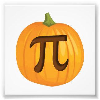 Pastel de calabaza pi de Halloween Impresiones Fotográficas
