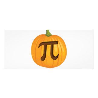 Pastel de calabaza pi de Halloween Tarjetas Publicitarias
