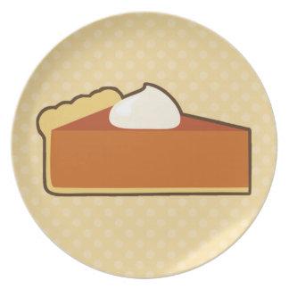Pastel de calabaza platos