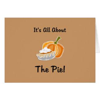 Pastel de calabaza tarjeta pequeña