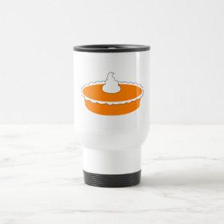 Pastel de calabaza tazas de café