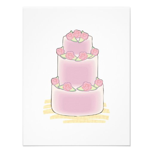 pastel de capas del rosa tres anuncio