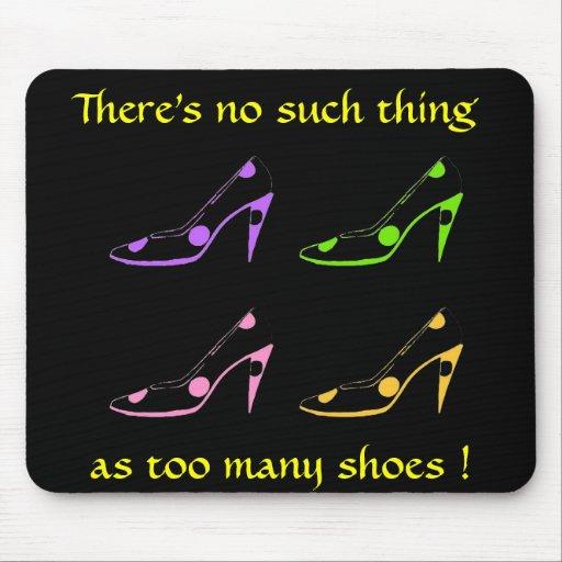 Pastel de la diva del zapato del tacón alto en neg mouse pad