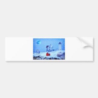 Pastel de la nieve ligera de Neddick del cabo Etiqueta De Parachoque