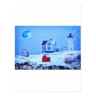 Pastel de la nieve ligera de Neddick del cabo Postales