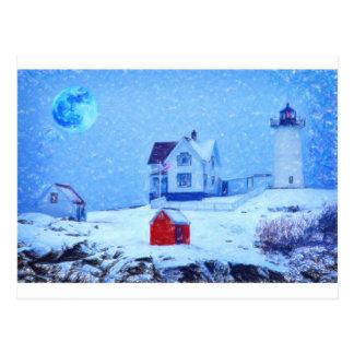 Pastel de la nieve ligera de Neddick del cabo Tarjetas Postales