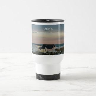 Pastel de la playa de la locura taza de viaje