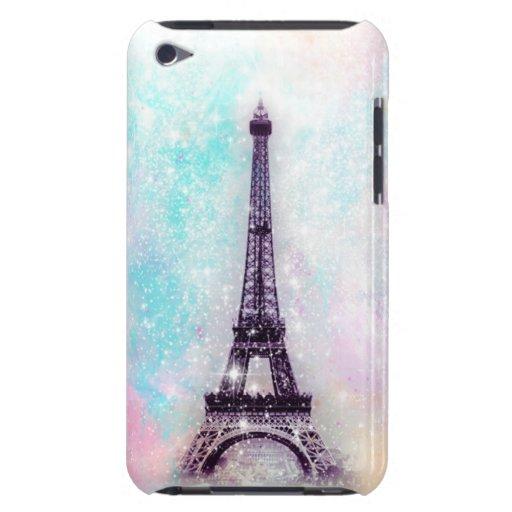 Pastel de la torre Eiffel Case-Mate iPod Touch Cárcasa