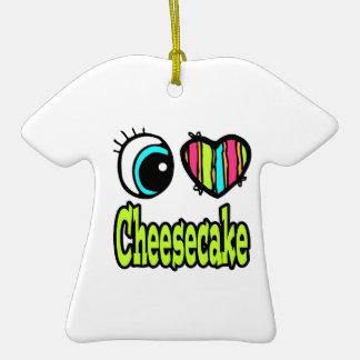 Pastel de queso brillante del amor del corazón I Ornamentos De Navidad