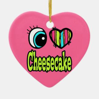 Pastel de queso brillante del amor del corazón I Adorno Para Reyes