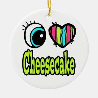 Pastel de queso brillante del amor del corazón I Ornamente De Reyes