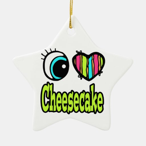 Pastel de queso brillante del amor del corazón I Adorno De Cerámica En Forma De Estrella