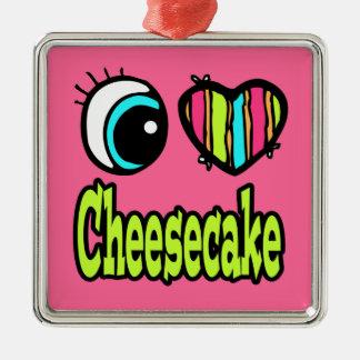 Pastel de queso brillante del amor del corazón I Ornamento Para Reyes Magos