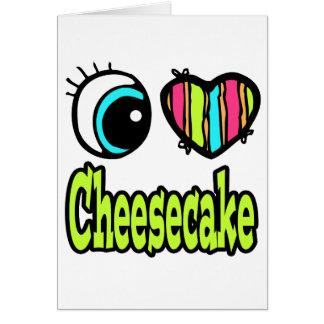 Pastel de queso brillante del amor del corazón I Tarjeta De Felicitación