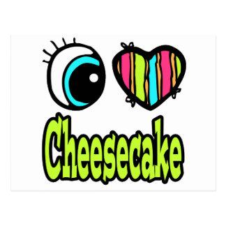 Pastel de queso brillante del amor del corazón I Tarjetas Postales