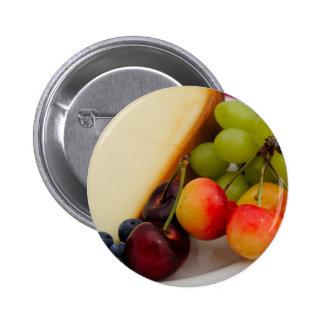 Pastel de queso con la fruta pins
