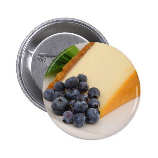Pastel de queso con la fruta pin redondo 5 cm