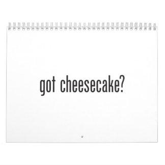 pastel de queso conseguido calendarios