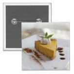 Pastel de queso de la calabaza pins