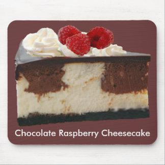 Pastel de queso de la frambuesa del chocolate alfombrillas de ratones