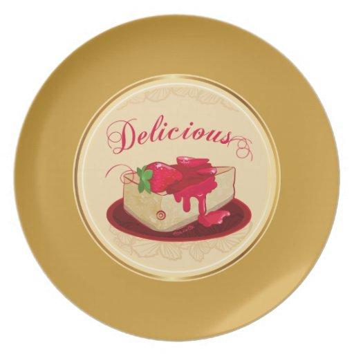 Pastel de queso delicioso - placa plato de comida