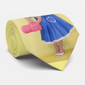 Pastel de queso modelo retro atractivo del chica corbatas personalizadas