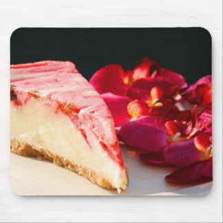 Pastel de queso y orquídeas Mousepad de la fresa Tapete De Ratones