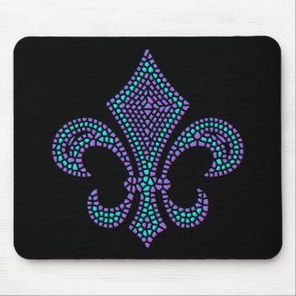 Pastel del cartabón del mosaico de la flor de lis alfombrilla de ratón
