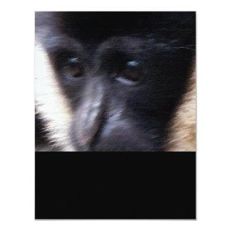 """Pastel del mono del Gibbon Invitación 4.25"""" X 5.5"""""""