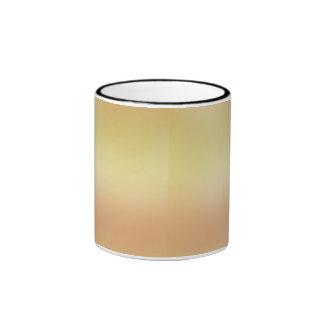 pastel del oro taza de dos colores