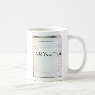 Pastel del ruido blanco taza de café