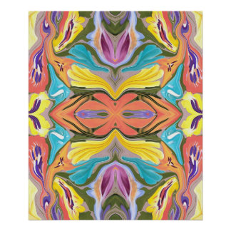 Pastel Delight Abstract Painting Poster