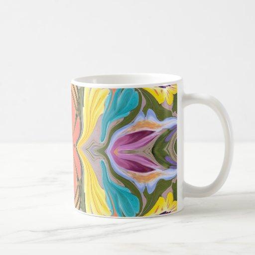 Pastel delight patterned coffee mug