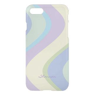 Pastel Designer Colors Wavy Striped iPhone 7 case