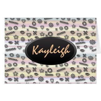 Pastel Designer Customize It Card