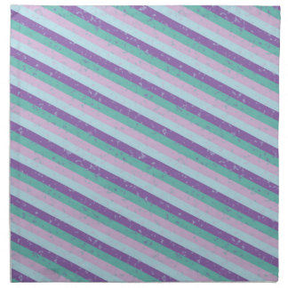 Pastel Diagonal Stripe Pattern Cloth Napkin