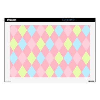 "Pastel Diamonds Skin For 17"" Laptop"